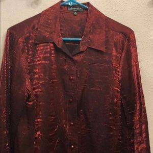 Shimmery red blouse elementz PL